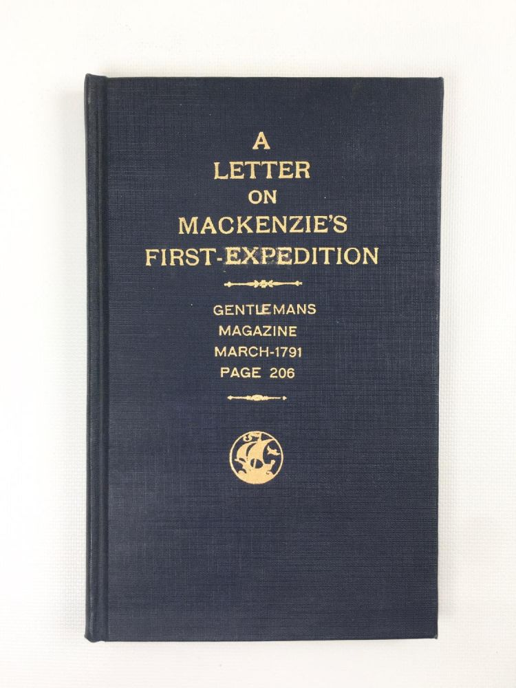 A Letter on Mackenzie's First Expedition
