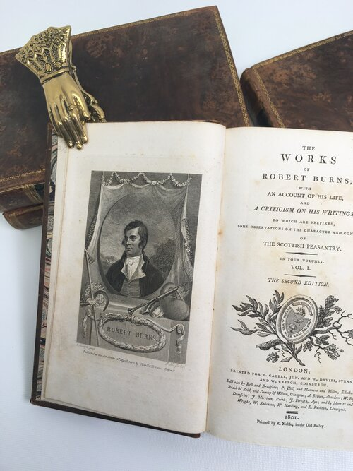 THE WORKS OF ROBERT BURNS.; With An Account Of His Life And A Criticism On His Writings. To Which Are Prefixed, Some Observations On The Character And Condition Of The Scottish Peasantry (1801). Robert Burns.