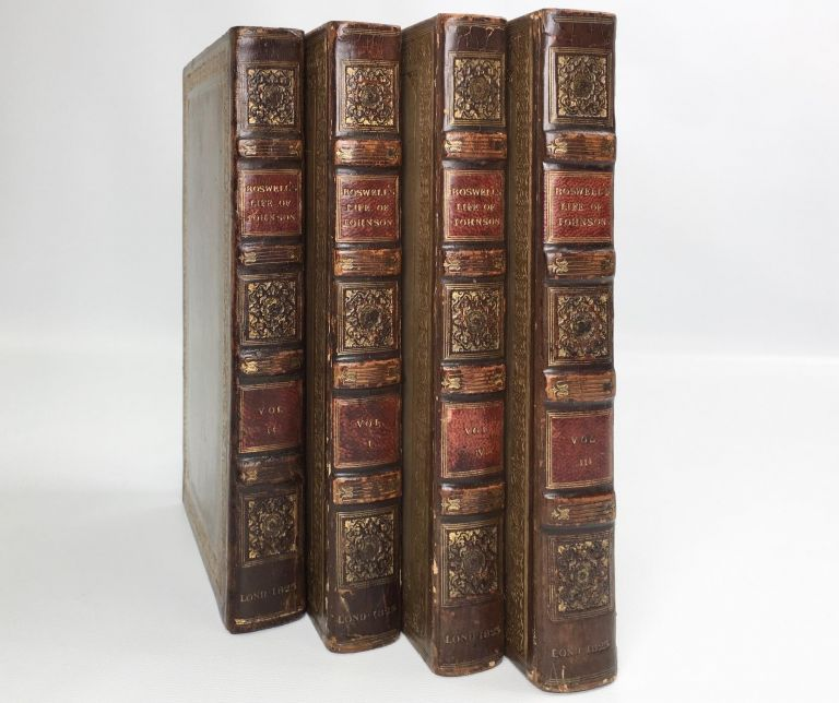 The Life of Samuel Johnson 4 Vols.; LLD Comprehending an Account of His Studies and Numerous Works, in Chronological Order; A Series of Epistolary Correspondence and Conversations with Many Eminent Persons; and Various Original Pieces of His Composition, Never Before Published. Johnson, Boswell James.
