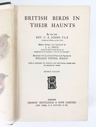 British Birds in their Haunts