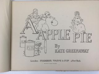 A Apple Pie. Greenaway Kate