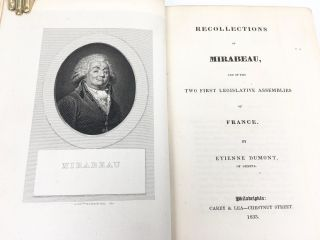 Recollections of Mirabeau and of the Two First Legislative Assemblies of France
