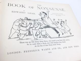 Book of Nonsense; Illustrated