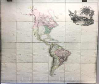 Map of America - Engraved, Hand-Coloured