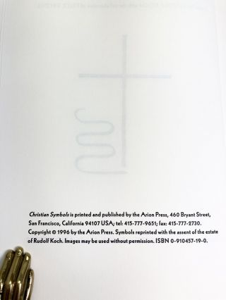 Christian Symbols; One hundred and Fifty-Eight Graphic Imagesd from the History of Christianity