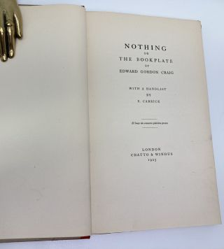 Nothing; or, The Bookplate