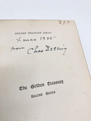 The Golden Treasury & The Golden Treasury Second Series; Selected from the Best Songs and Lyrical Poems in the English Language and Arranged with Notes