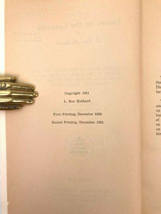 Notes on the Lectures of L. Ron Hubbard