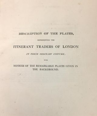 Itinerant Trades of London